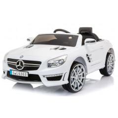 Mercedes SL63 Voiture électrique Pour enfant 12 Volts Blanc avec Télécommande Parentale Voitures électriques enfants SL63/B