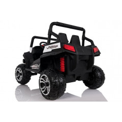 White Electric Buggy For children 4x4 2 places with parental remote control