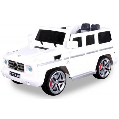 Mercedes AMG G55 Voiture électrique Pour enfant 12 Volts Blanche Voitures électriques enfants PR001625601