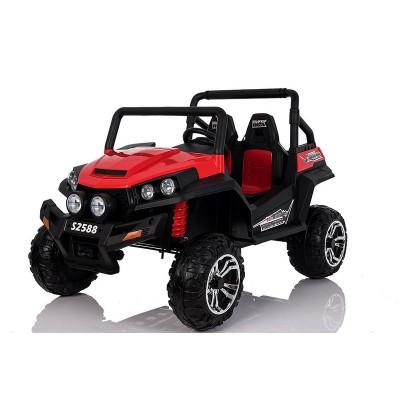 Buggy Electrique Rouge Pour enfants 4x4 2 places avec télécommande parentale 4x4 électriques pour enfants  RS12V/ROUGE