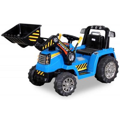 Tracteur Pelleteuse Electrique Pour enfant 12 Volts Bleu, télécommande parentale Tracteurs électriques pour enfants  ZP1005B