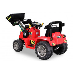 Electric Backhoe Tractor For children 12 Volts Red, parental remote control