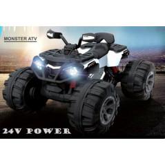 Quad Big Foot Blanc 24 volts Electrique pour enfant Quads électriques pour enfants BIGFOOT24