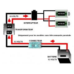Power kit for 12 Volt vehicles