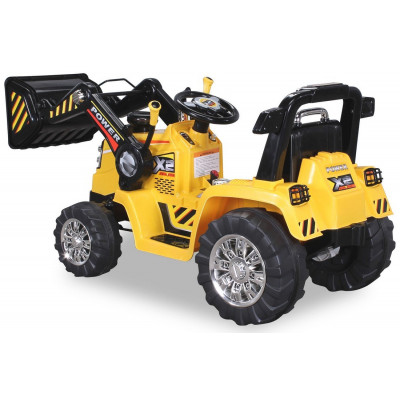 Electric Backhoe Tractor For children 12 Volts Yellow, parental remote control