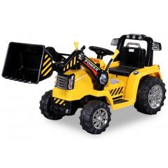 Tracteur Pelleteuse Electrique Pour enfant 12 Volts Jaune, télécommande parentale Tracteurs électriques pour enfants  ZP1005Y