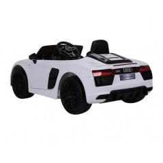 Audi R8 Spyder 12 volt electric child car White with parental remote control