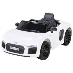 Audi R8 Spyder 12 volts voiture électrique enfant Blanche avec télécommande parentale Voitures électriques enfants R8/BLANC