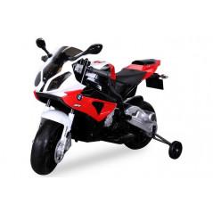 Moto électrique BMW S1000RR pour enfant 12 volts rouge/noir Moto electrique enfant BMWS1000RR/ROUGE