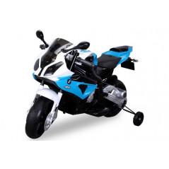 Moto électrique BMW S1000RR Pour enfant 12 volts bleu/noir Moto electrique enfant BMWS1000RR/BLEU