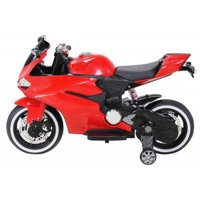 Electric motorcycle 12 Volts red for children
