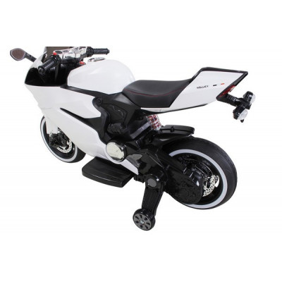 White 12 Volt Electric Motorcycle for Kids