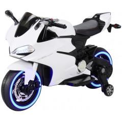 Moto Electrique 12 Volts Blanc pour enfant Moto electrique enfant MOT1299SS/B