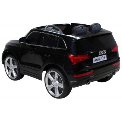 Audi Q5 12-volt black children's electric car with parental remote control