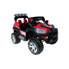 Jeep rouge métallisé électrique pour enfants 12 volts avec télécommande parentale